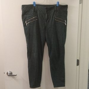 Torrid Checkered Pants with Zippers